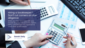 Don't cut corners when hiring a bookkeeping